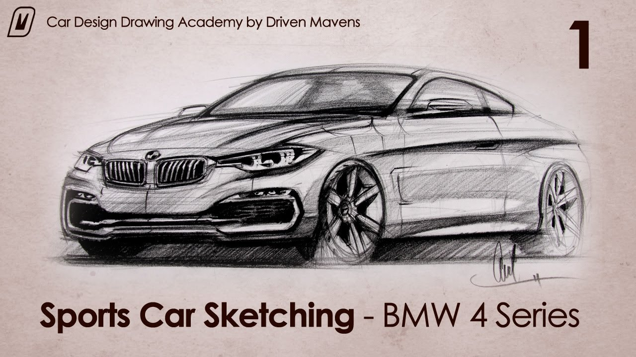 Lovely 2014 BMW 4 Series Coupe Concept Car Designer Sketch   YouTube