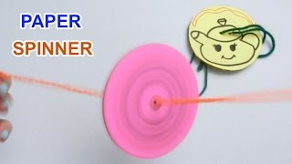 How to make Paper Spinner for fun | Crafts for kids