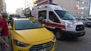 Ticari taksi çarptı, sedye üzerinde telefonunu istedi | Samsun ve Haber