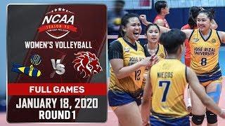 JRU vs. SBU - January 18, 2020 | Full Game | 5th Set | NCAA 95 WV
