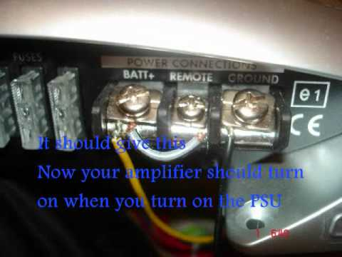 Car Amplifier Wiring Diagram Sony Cdx Gt54uiw How To Hook Up A W/subs At Home - Youtube