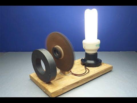 Free Energy Generator | Energy Magnet Motor Generator | Science Project.