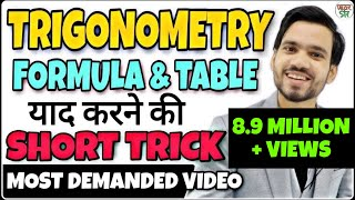 Trigonometry | Trigonometry  Formulas/Table Trick | Trigonometry Class 10/11/12 |Trigonometry Basics