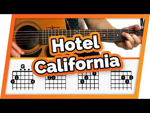Hotel California Guitar Tutorial (The Eagles) Easy Chords Guitar Lesson