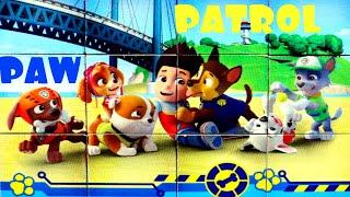 Райдер и его щенки у моря собираем кубики пазлы для детей из  мультика щенячий патруль PAW Patrol