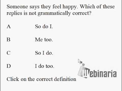 Grammar Quiz 2 - Grammar Test 2 - ESL British English Pronunciation