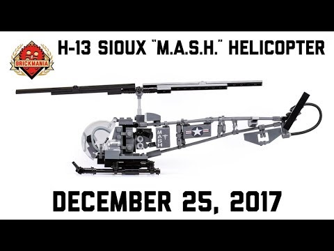"""H-13 Sioux """"M.A.S.H."""" Helicopter - Custom Military Lego"""