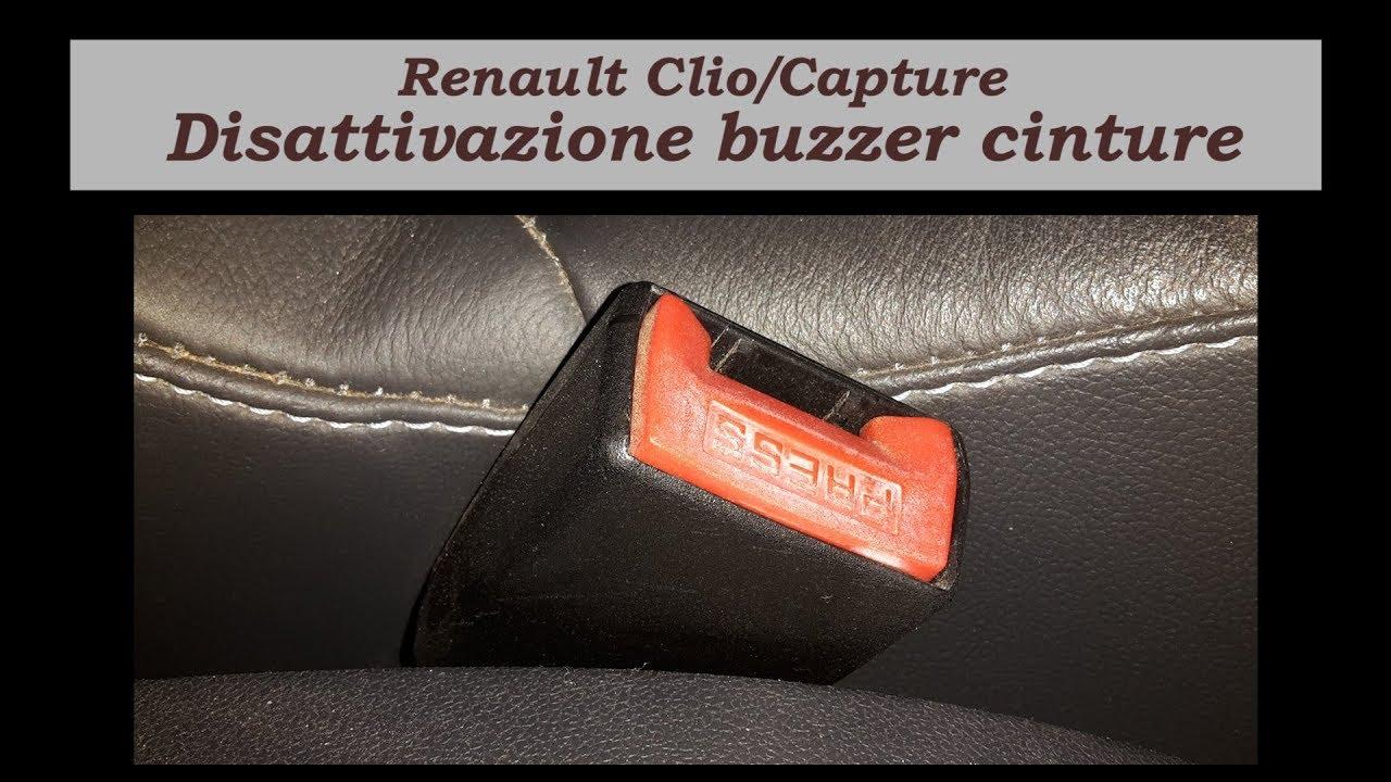 in vendita più economico a piedi a Come disattivare il cicalino (buzzer) cinture su Renault Clio/Captur