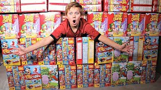 WORLD'S SMALLEST Cereal Box Fort!!