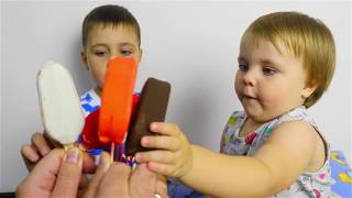 Finger Family Song & learn Colors for Kids with Ice Cream Educational Video for Kids