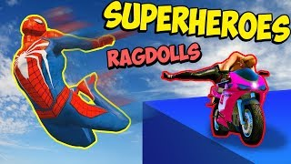 GTA 5 Superheroes Ragdolls/Funny moments #10 | Euphoria physics