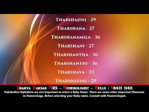 FINE GIRL BABY NAME - POORADAM NAKSHATHRAM-3-  BEST NUMEROLOGIST - SHARVA RAKSAN MRS - 9842111411