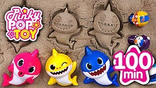 June 2018 TOP 10 Videos 100min Baby shark, Titipo, Kongsuni, baby doll - PinkyPopTOY