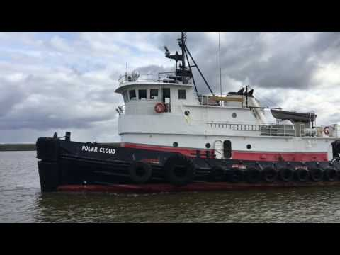 First Barge 2017 Bethel Alaska Kuskokwim River
