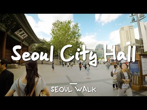 Seoul Walk: City Hall (시청), @Line 1 & 2 - Seoul, South Korea [4K]