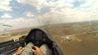 Glider Landing in Cotton Field During Contest