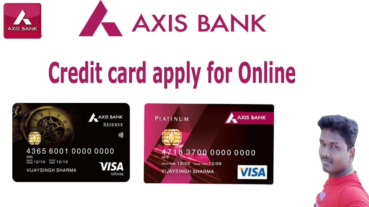 How to apply Axis bank credit card  through online (Video)