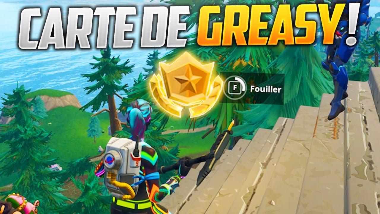 carte tresor greasy grove SUIVRE LA CARTE AU TRÉSOR DE GREASY GROVE DE FORTNITE BATTLE