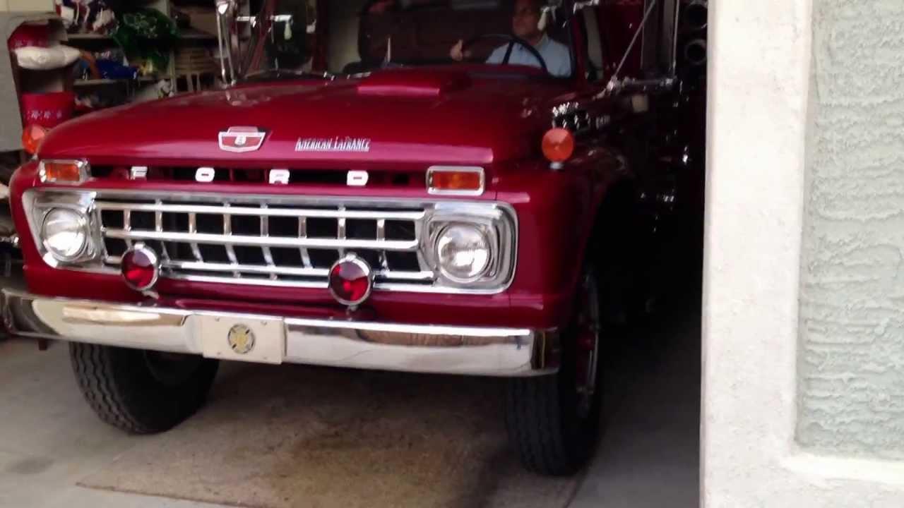 1965 ford fire truck [ 1280 x 720 Pixel ]