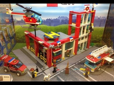 Overview of Toy Store LEGO FIRE RESCUE TOYS FIRE STATION ...