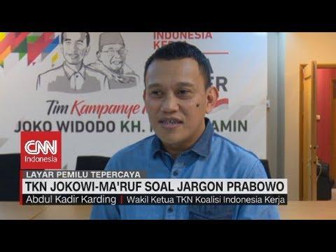 TKN Jokowi-Ma'ruf Soal Jargon Prabowo
