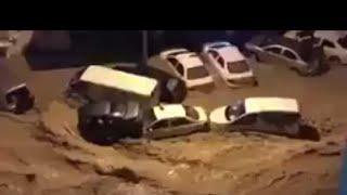 الكويت تغرق وحالات وفاة بسبب الامطار الغزيرة والسيول القويه