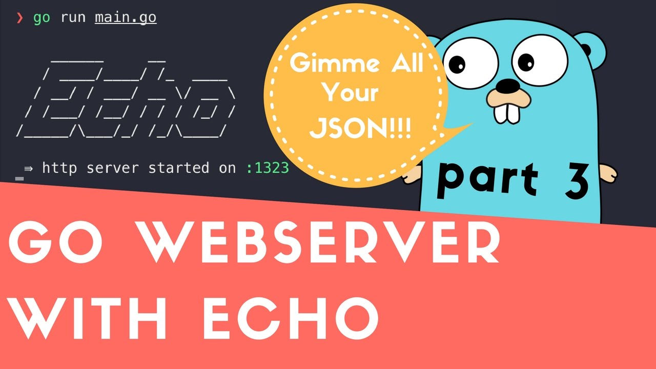 Creating Golang WebServer With Echo - Part 3: Parsing JSON From Request