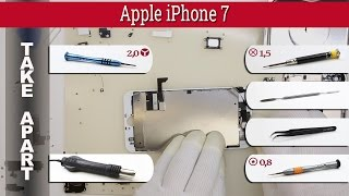How to disassemble 📱 Apple iPhone 7 (A1660, A1778, A1779) Take apart Tutorial