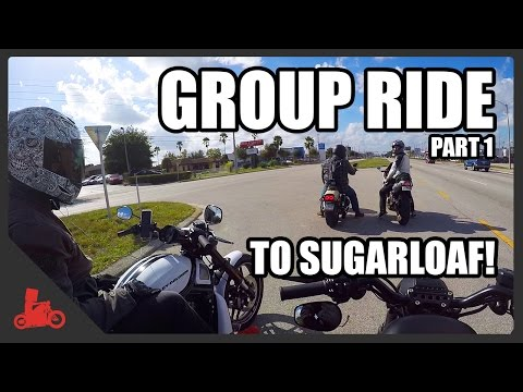 Group Ride to Sugarloaf, Part 1! - Harley Iron 883