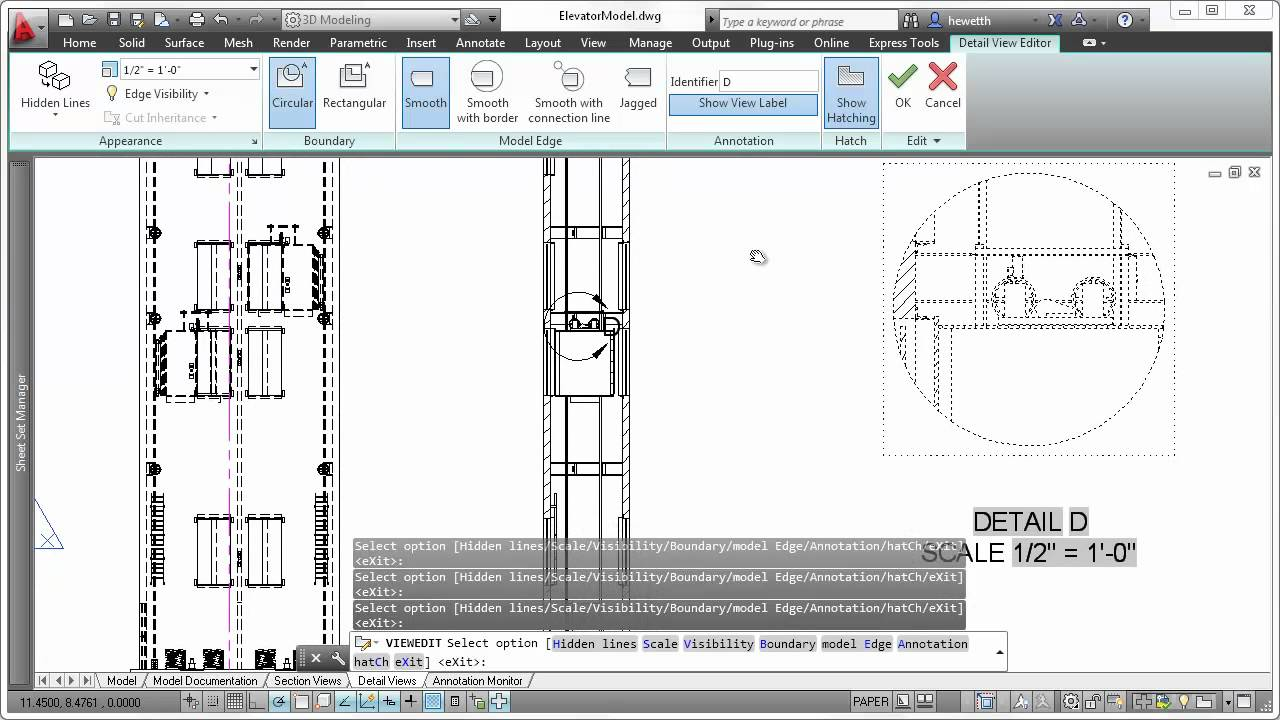 Autocad 2013 Detail Views Youtube