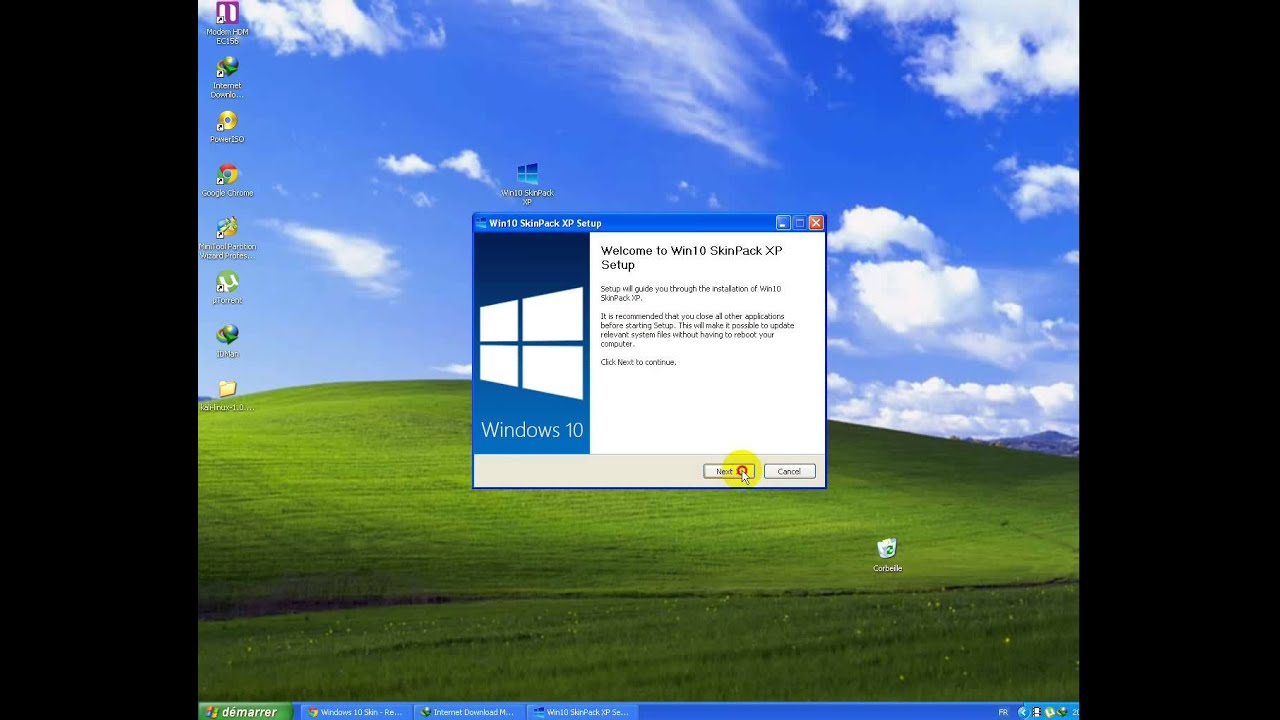 تحويل Thème windows xp الى windows 10 - YouTube