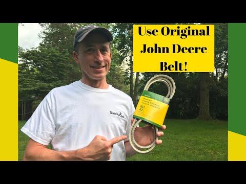 John Deere D105 42 Inch Mower Deck Belt Replacement