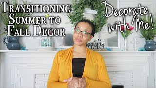 Decorate with Me for Fall ~ Decorating a Mantel for Fall