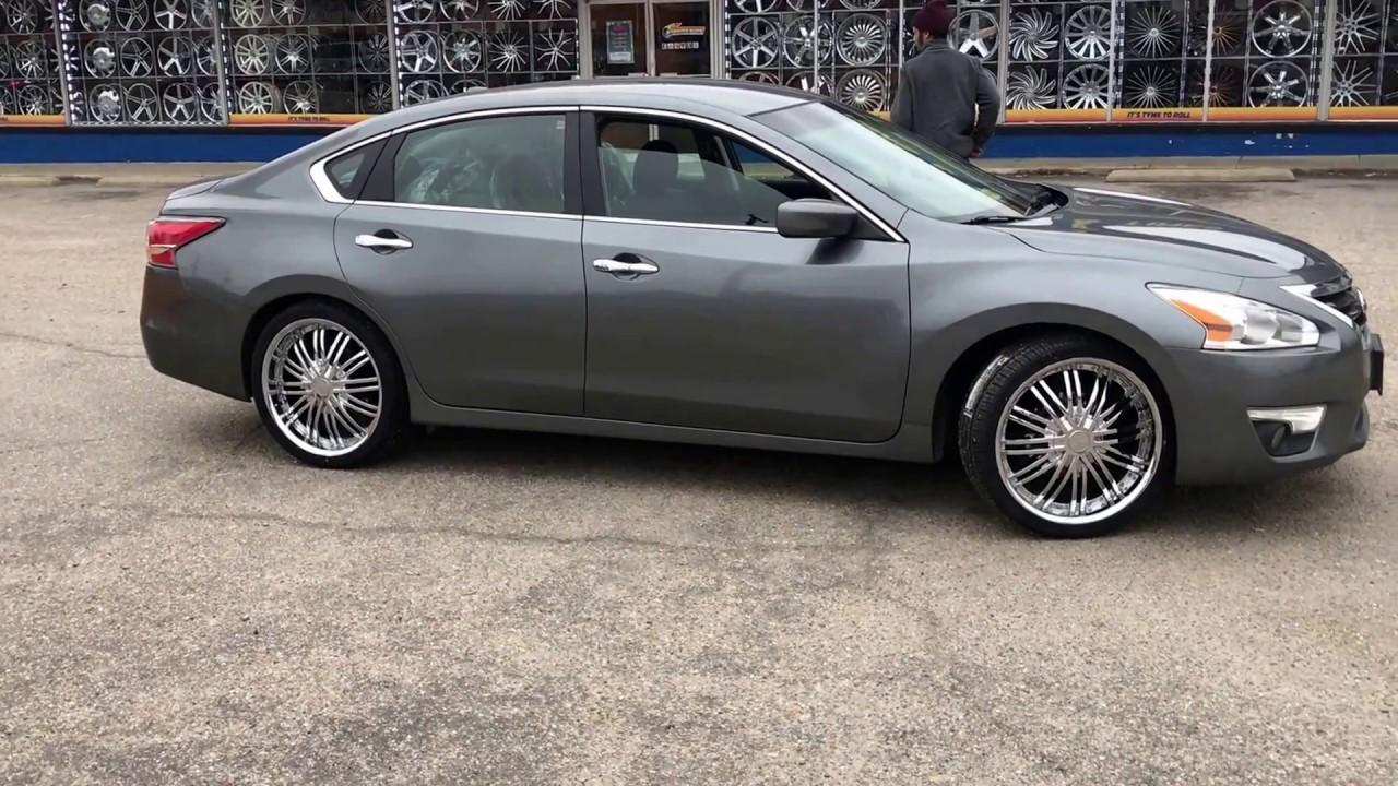 2017 Nissan Altima Sitting On 20 Rsw 99 Chrome Wheels With 245 35 Lexani Tires