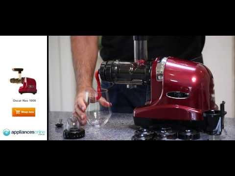 Create delicious frozen fruit sorbet using Vitality4life's Oscar Neo 1000 juicer - Appliances Online