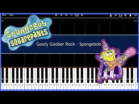 Goofy Goober Rock - Spongebob (Synthesia) [Tutorial] [Instrumental Video] [Download]