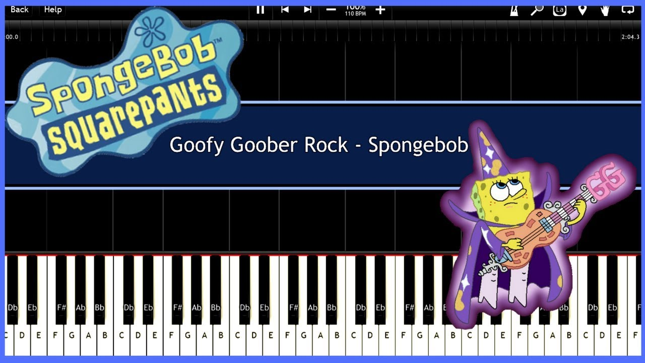 Goofy goober rock spongebob synthesia tutorial instrumental video download