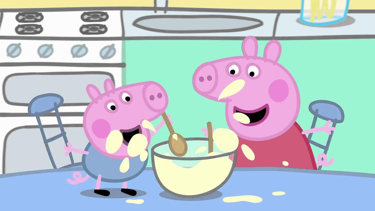 pancakes pig peppa cousin babysitting windy castle