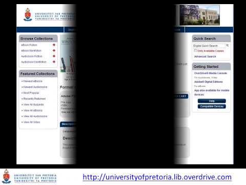 OverDrive Ebook System Intro - University of Pretoria Library Services (UPLS)
