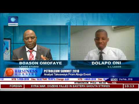 Nigeria Oil Sector: Beyond The Petroleum Summit 2018 | Business Morning |