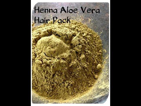 Healthy and Shiny hair : Henna and Aloe Vera hair pack