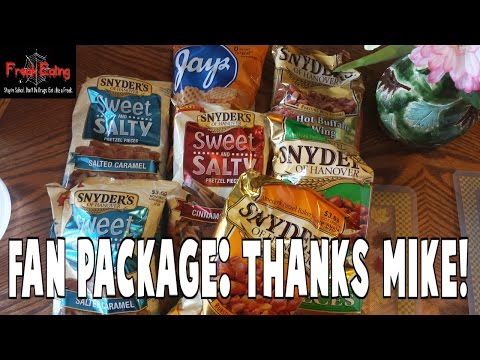 FreakEating Fan Package Episode 1: Snyder's Pretzels from Mike!