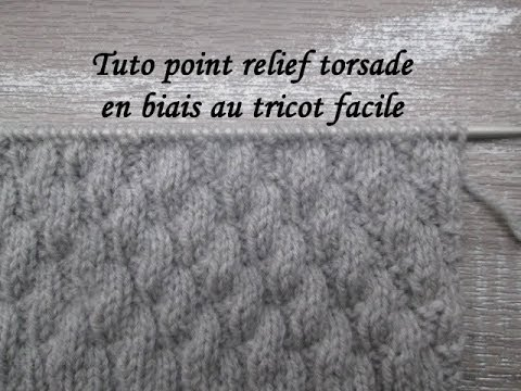 Tuto Point Relief Torsade Au Tricot Stitch Knitting Punto Relieve Torsadas Dos Agujas