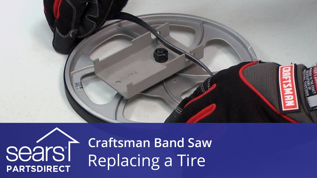 How to replace a craftsman band saw tire youtube how to replace a craftsman band saw tire keyboard keysfo Choice Image