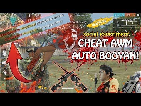 RANDOM RANK PAKE CHEAT AWM AUTO BOOYAH ( social experiment ) Part 2 - GARENA FREE FIRE