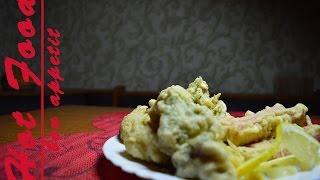 Брокколи,Цветная капуста,Краб в чесночном кляре (Рецепт от Hot Food)
