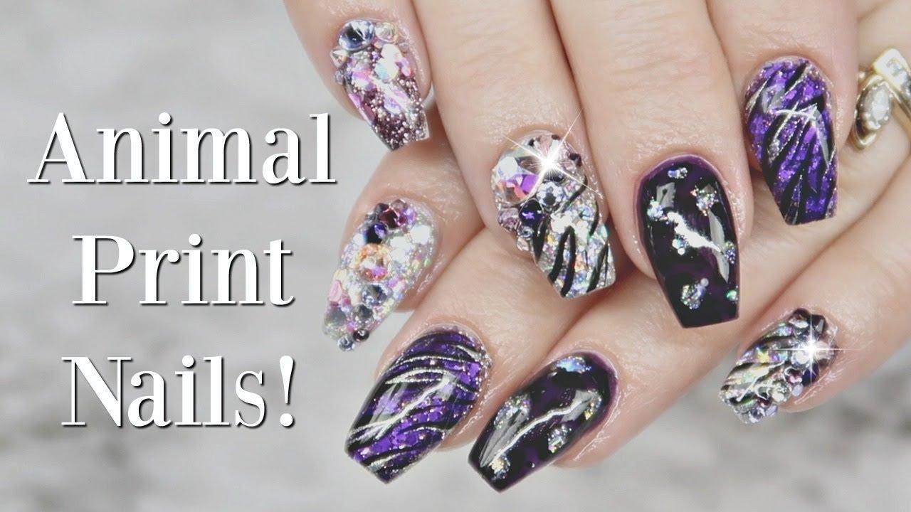 animal print nail art gel