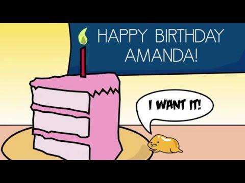 Amanda Birthday Cartoon Gudetama Tribute