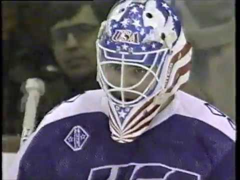 1992 Winter Olympics - Ice Hockey semifinal - United States v Unified Team