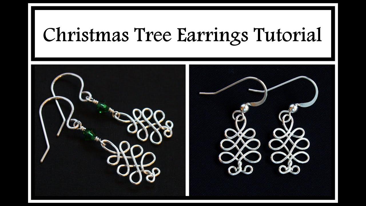 Easy Jewelry Tutorial Celtic Christmas Tree Holiday DIY Wire  - Make Christmas Tree Earrings